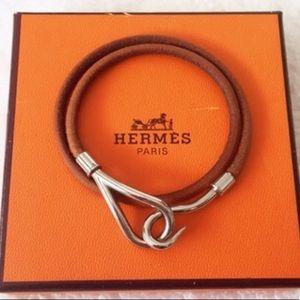 💯 Authentic Hermès Jumbo Hook Wrap Bracelet